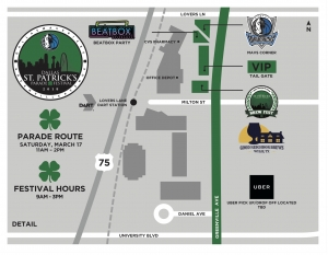 2018 Dallas St.Patrick's Parade Map